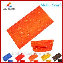 Ningbo lingshang barato grosso poliéster desporto outdoor seamless costume multifuncional tubo bandana