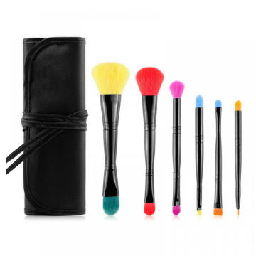 Doppelkopf Reise Make-up Pinsel Set