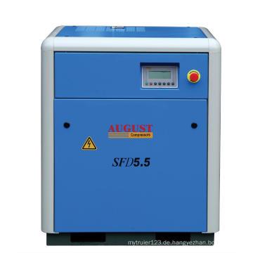 Luftgekühlter Schraubenkompressor mit 5,5 kW / 7,5 PS im August