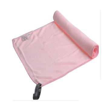 serviette imprimée en suède microfibre logo avec poche zippée