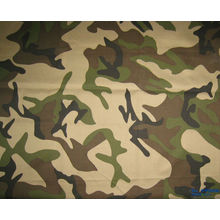 polyester and cotton 65/35 20*16 ribstop camouflage printed fabric used for police and military