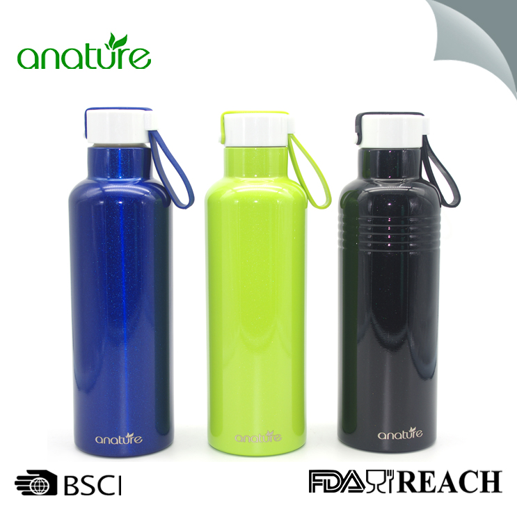 Stainless Steel Sports Water Bottle With Lid 16oz