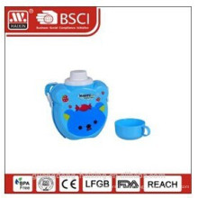 plastic kid bottle 0.7L with cup