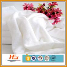 100% algodão hotel plain toalhas de banho brancas