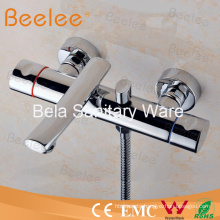 High Quality Brass Wall Mount Shower Bathtub Mixer with Dual Handles