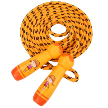 Custom Logo Students Toy Kids Wooden Handle Jump Rope