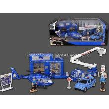 Die Cast Metal Car Play Set Toy-F/W Police Play Set