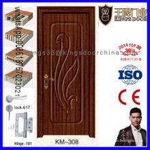 ПВХ покрытием заподлицо МДФ деревянные двери