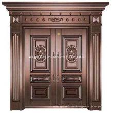 Sun & impermeable exterior de hierro de seguridad metálica de cobre de acero puerta (w-GB-06)