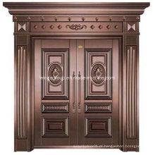Sun & Waterproof Exterior Iron Security Metal Steel Copper Door (W-GB-06)