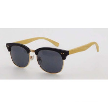 Man sunglasses with wooden temples