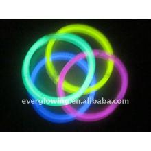 Bracelet luminescent de 8 pouces avec certification CE