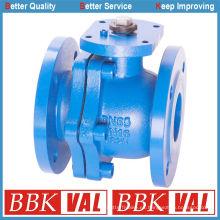 Válvula de bola de hierro fundido Válvula de bola de hierro dúctil Válvula de bola flotante DIN