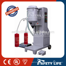 Extincteur automatique de poudre sèche / machine de remplissage manuelle de poudre / machine de remplissage de poudre d'abc pour l'extincteur