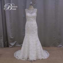 Vestido de noiva de vestido de noiva sereia Applique