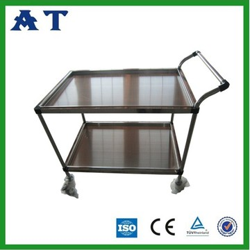 Stainless Steel instrument trolley with handrail