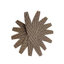 Long Lasting 17.8cm Half moon Brown 100/180 grit abrasive Nail File