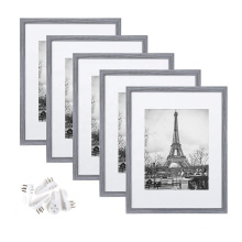 Cheap wholesale custom 11x14 Ash Gray wood DIY Wall gallery Picture Frame for photo hd
