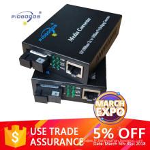 10 / 100M monomode 2 ports ethernet convertisseurs de médias à fibres optiques