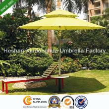 2.7m Double Layer Aluminium Patio Umbrellas for Outdoor Furniture (PU-0027AD)