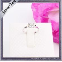 925 prata esterlina elegante jóia do anel de casamento da forma