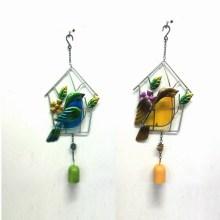 2 Asst Promotion Gift Metal Garden Bird Wind Bell Craft