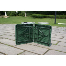 122 * 60 * 74cm Army Green Table / Geral Usado Suitcase Folding Table / Outdoor Fold na Mesa de atividade média com bloqueio e alça