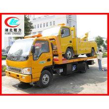 JAC flat bed wrecker towing truck