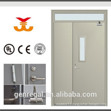CE Best price cheap fire safety steel doors