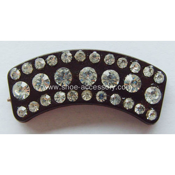 Fanshaped Rhinestone Buckle