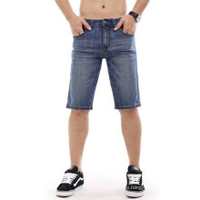 Männer Denim Shorts Zerrissene Slim Fit Jeans