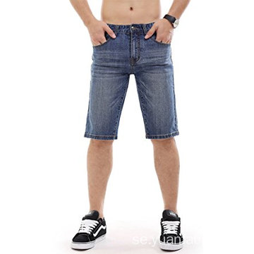 Men Denim Shorts Ripped Slim Fit Jeans
