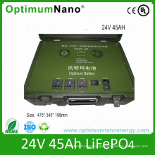 Deep Cycle 24V 45ah LiFePO4 Battery for Army Backup System