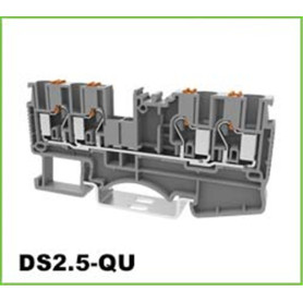 2,5 mm2 2 in 2 uit DIN-rail klemmenblok