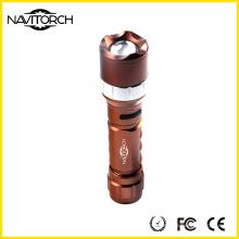 Zoomable nachladbare 260lm leistungsstarke Aluminium-Taschenlampe (NK-681)