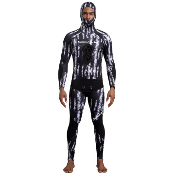 Seaskin 3.5mm Dua Potong Camo Spearfishing Wetsuit