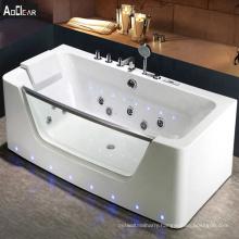 Aokeliya acrylic  whirlpool system bathtub underwater led light