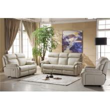 Sofá de couro em couro genuíno Sofá de sofá reclinável elétrico (D841)