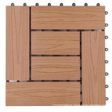 2021 new DIY teak deck 300X300mm composite decking tiles on sale