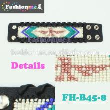 FashionMe plus récent tressé bracelet en cuir de bord