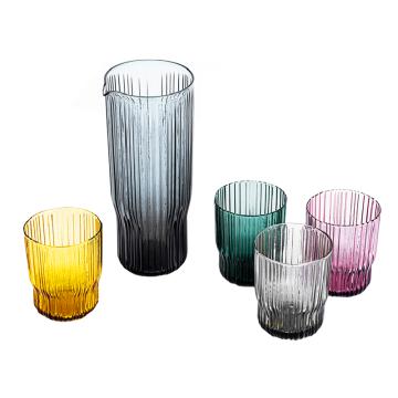 Pichet en verre de couleur unie DOF