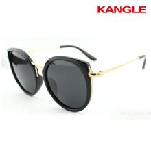 High quality good glasses aluminum alloy retro frame driving women polarized sunglasses