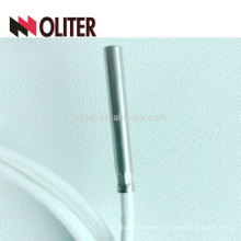 waterproof stainless steel probe flexible insulated silicone cable platinum resistance manufacturer pt100 temperature sensor