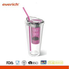 Double Wall Insulated 500ml Pp Plastic Tumbler With Sleeve