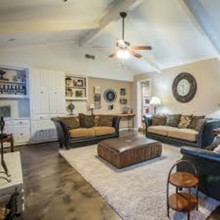 Living room metallic epoxy floor