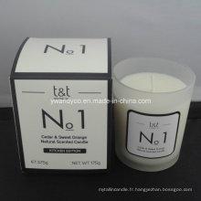 Bougie parfumée au cèdre naturel et à l'orange douce no 1