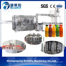 Monobloc 3 in 1 Bottled Orange Juice Filling Capping Machine
