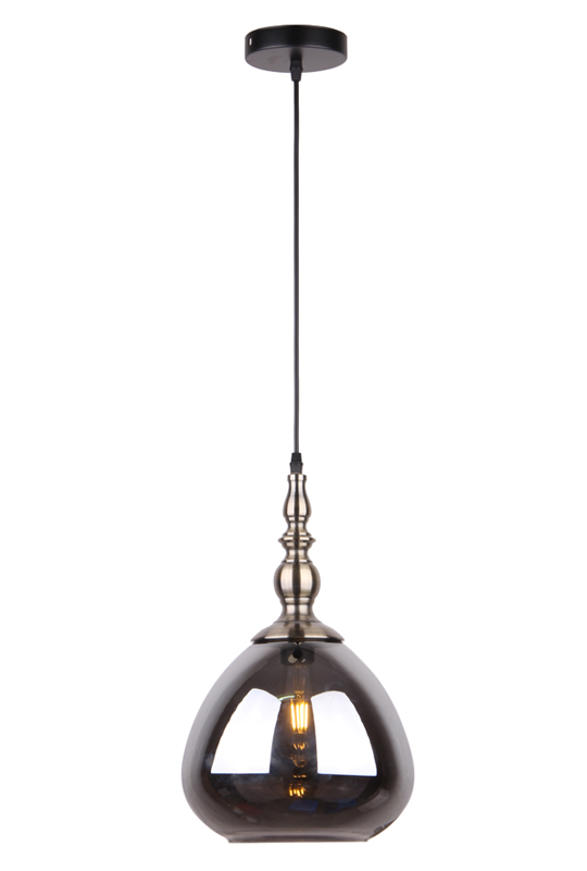 Pendant Lamp Grey Glass