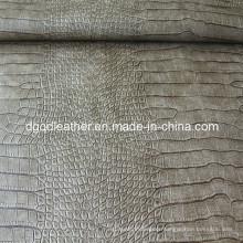 Crocodile Pattern Semi-PU Furniture Leather (QDL-FS036)