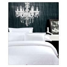 200-400T Algodão egípcio puro branco hotel toalhas e roupa de cama